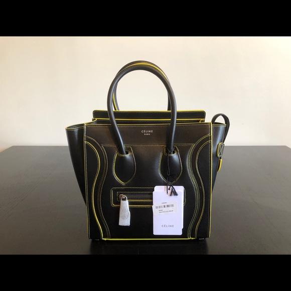 Celine Handbags - Celine Luggage Micro Black Calfskin Tote BRAND NEW